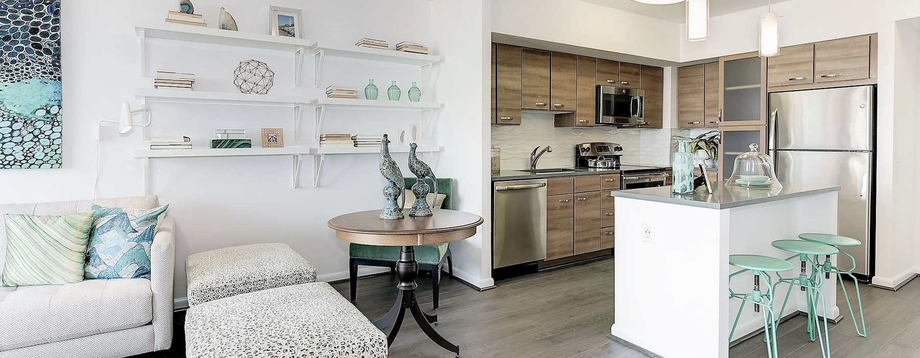 Open concept kitchen with modern finishes